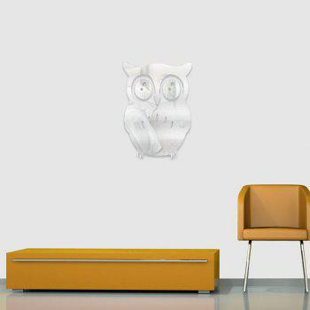 3D Removable Owl Shape Mirror Wall Art Sticker Mural Home Decoration - SILVER SILVER