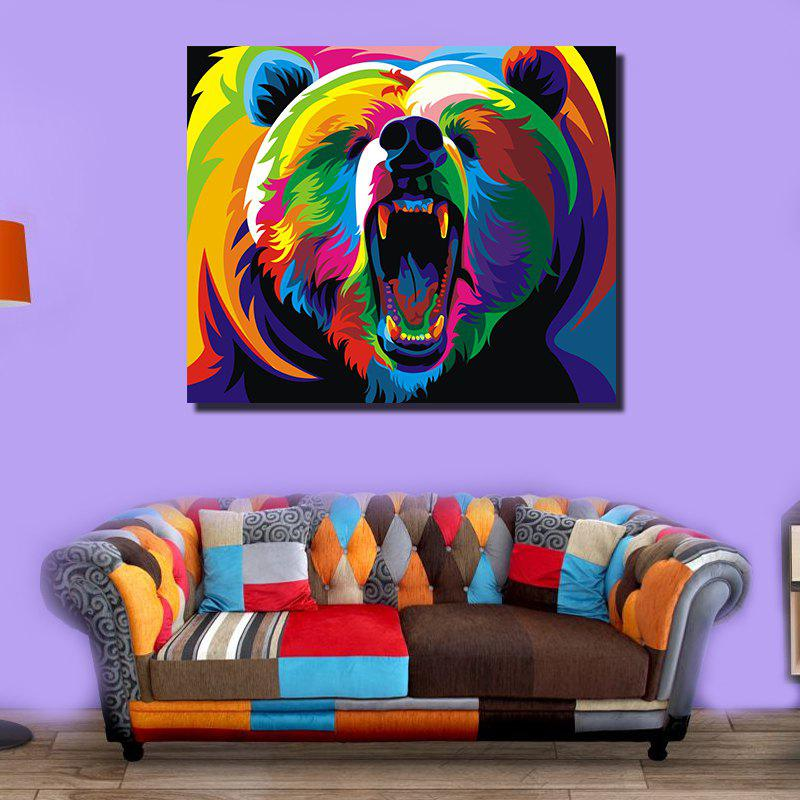 Modern Abstract Canvas Print of Grizzly Frameless Home Decoration modern instrumentations of pharmaceuticals analysis