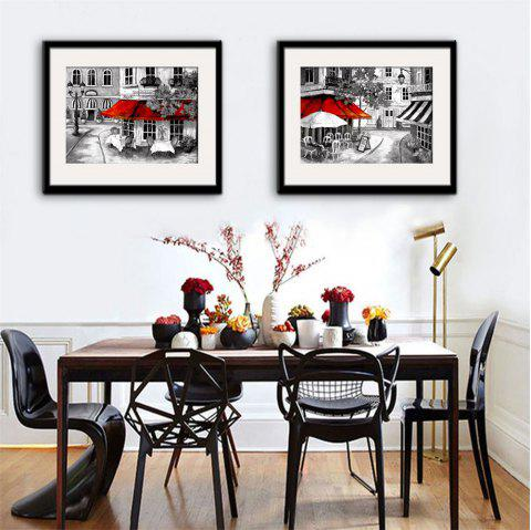 2018 Special Design Frame Paintings Restaurant Print 2PCS In ...