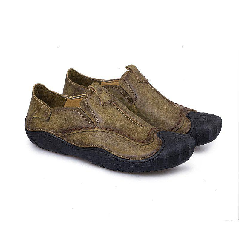 Casual Shoe Man Leather Breathable Man Low Help Shoes - KHAKI 39