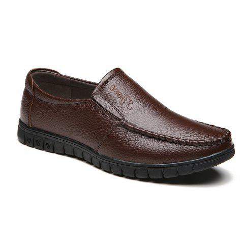 Soft Soles Middle-Aged People Shoes - BROWN 44
