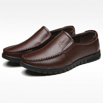 Soft Soles Middle-Aged People Shoes - BROWN 43