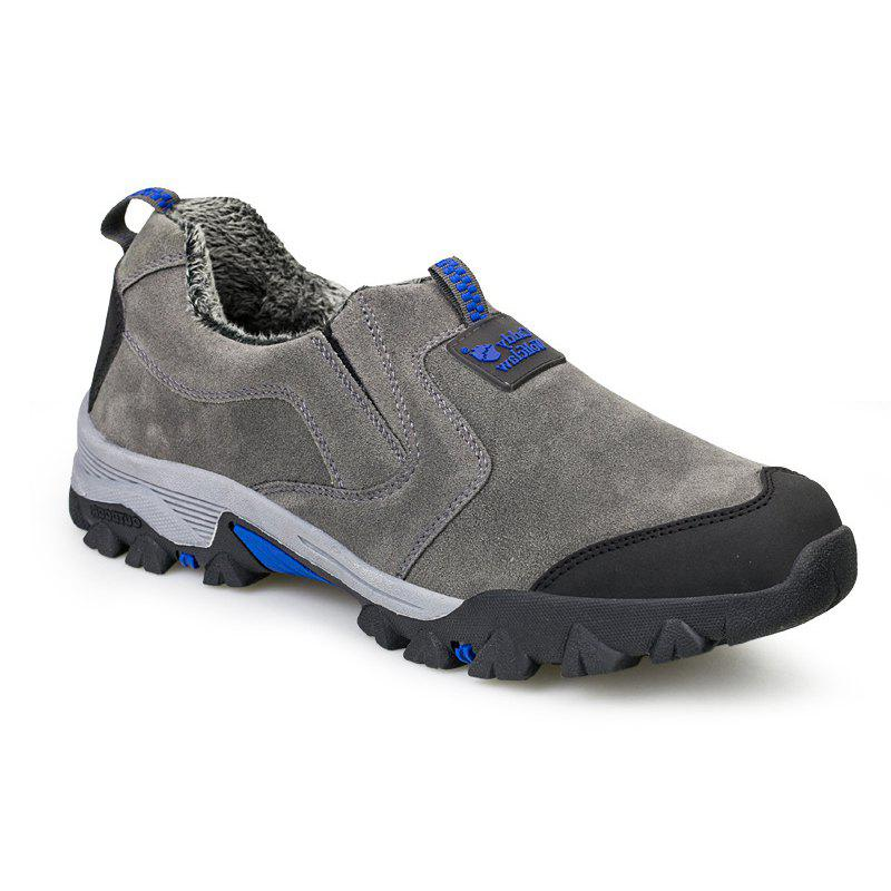 Men'S Warm Cotton Father'S Shoes - GRAY 38