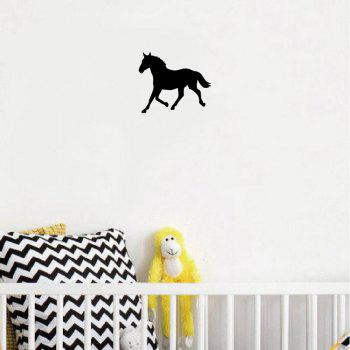 MA-29  Horse Silhouette Vinyl Wall Sticker Cartoon Animal Silhouette Viny Wall Decal Ho - BLACK BLACK