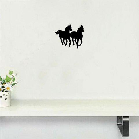 MA-30  Horse Silhouette Vinyl Wall Sticker Cartoon Animal Viny Wall Decal Home Decor 00 - BLACK 10X12CM