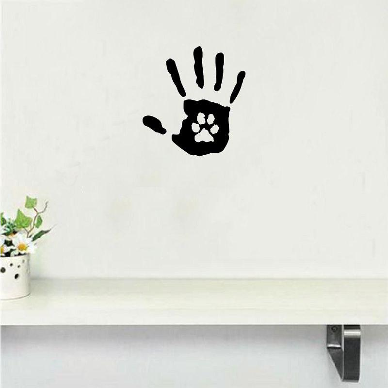 где купить Dog-49   Creative Hand Print With Paw Print Dog Cat Pet Rescue Vinyl Wall Sticker∕Decal по лучшей цене