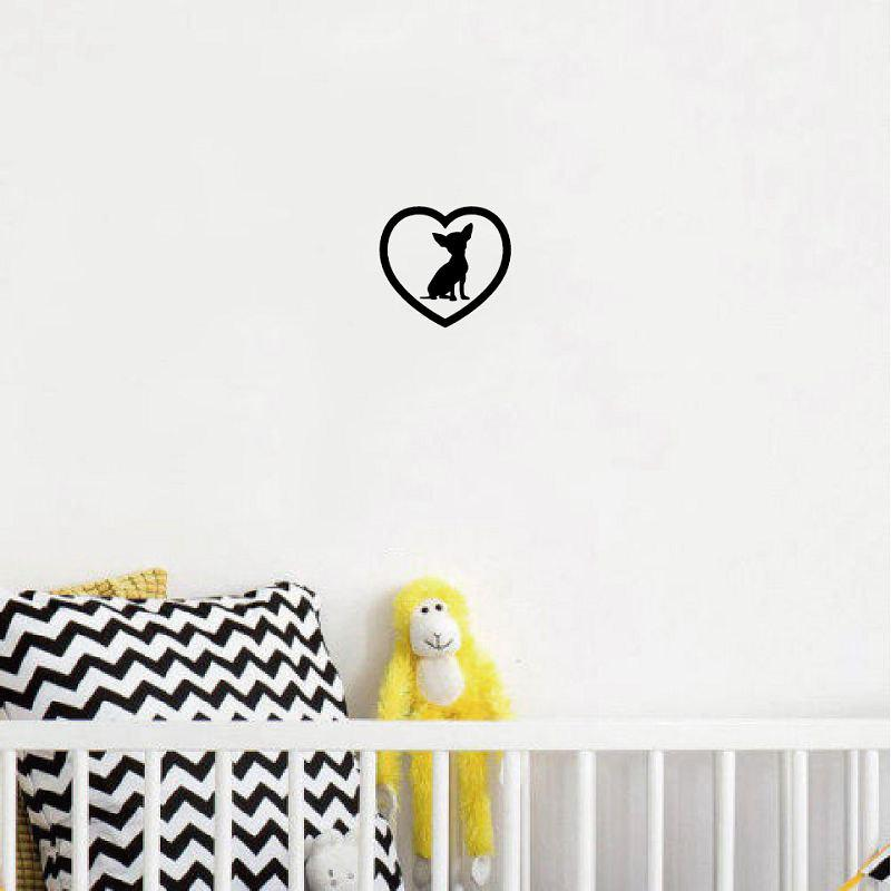 Dog 54 Cute Chihuahua Heart Dog Wall Sticker Creative Cartoon Animal Vinyl Wall  Decal