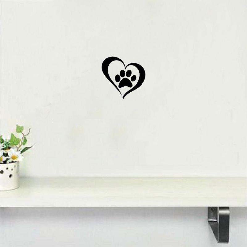 где купить Dog-56   Cute Paw Heart Wall Sticker Creative Cartoon Cat Dog Lover Vinyl Wall Decal Home по лучшей цене
