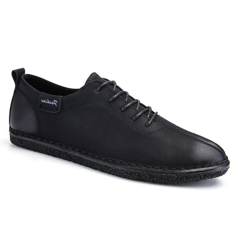 wholesale price cheap price for cheap for sale Men Casual Lace Up Leather Light Shoes - Black 43 ckBwT