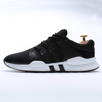 Running Female Couple Student Sneakers Jogging Shoes - BLACK 42