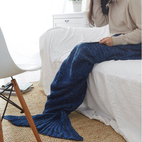 New Children Adult Contracted Mermaid Tail Blanket - CADETBLUE 50CM X 90CM