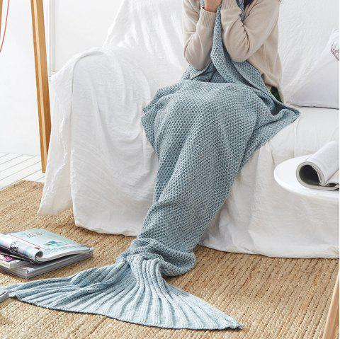 New Children Adult Contracted Mermaid Tail Blanket - BLUE GRAY 70CM X 140CM