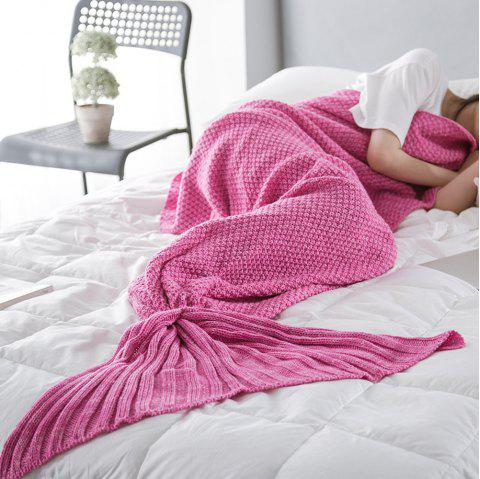New Children Adult Contracted Mermaid Tail Blanket - ROSY PINK 50CM X 90CM