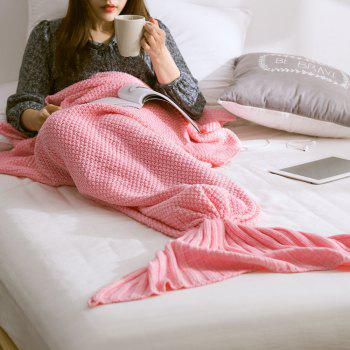 New Children Adult Contracted Mermaid Tail Blanket - PINK PINK