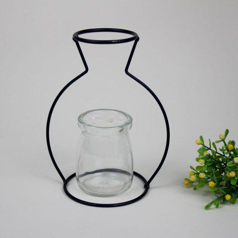 Manufacturer Hot Style Black Creative Iron Art Put Aside Glass Vases To Simulate Flower and Flower Ornaments - BLACKS