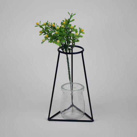 Manufacturer Hot Style Black Creative Iron Art Put Aside Glass Vases To Simulate Flower and Flower Ornaments - BLACK 35