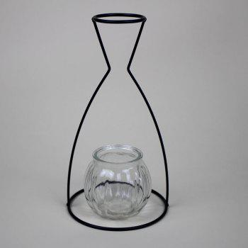 Manufacturer Hot Style Black Creative Iron Art Put Aside Glass Vases To Simulate Flower and Flower Ornaments -  HEISE