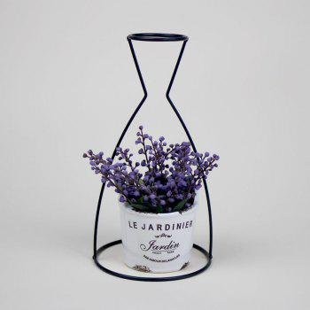 Manufacturer Hot Style Black Creative Iron Art Put Aside Glass Vases To Simulate Flower and Flower Ornaments - HEISE HEISE