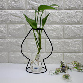 Manufacturer Hot Style Black Creative Iron Art Put Aside Glass Vases To Simulate Flower and Flower Ornaments - BLACK