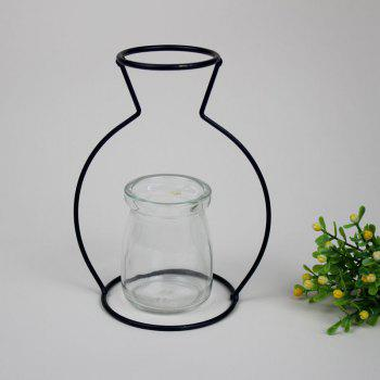 Manufacturer Hot Style Black Creative Iron Art Put Aside Glass Vases To Simulate Flower and Flower Ornaments - BLACKS BLACKS