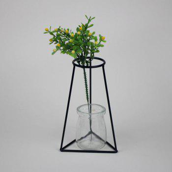 Manufacturer Hot Style Black Creative Iron Art Put Aside Glass Vases To Simulate Flower and Flower Ornaments - BLACK 35 BLACK