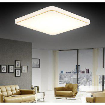 48 Watts Modern Simplified LED Square Suction Dome Light 50 x 50 CM - WARM WHITE WARM WHITE