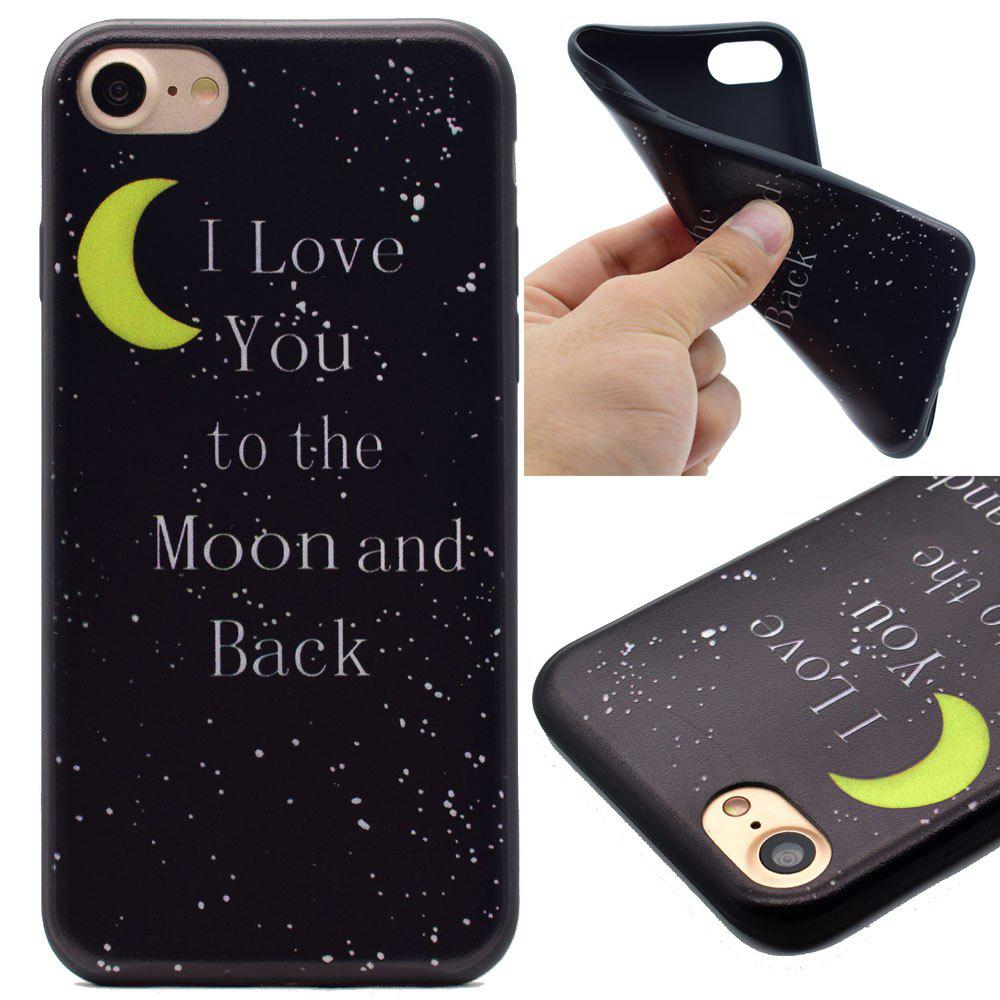Moon Pattern TPU Soft case for iPhone 7 / 8 - BLACK