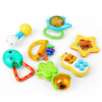 Baby Teether 13 Pcs Set Cute Colorful Teething Hand Bell - COLORMIX