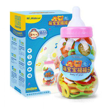 Baby Teether 13 Pcs Set Cute Colorful Teething Hand Bell - COLORMIX COLORMIX