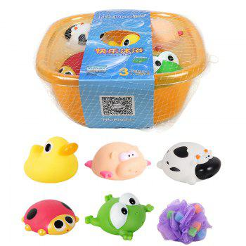 Baby Toy Baby Bathtub And Animal Model Toys Set - COLORMIX COLORMIX