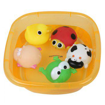 Baby Toy Baby Bathtub And Animal Model Toys Set - COLORMIX