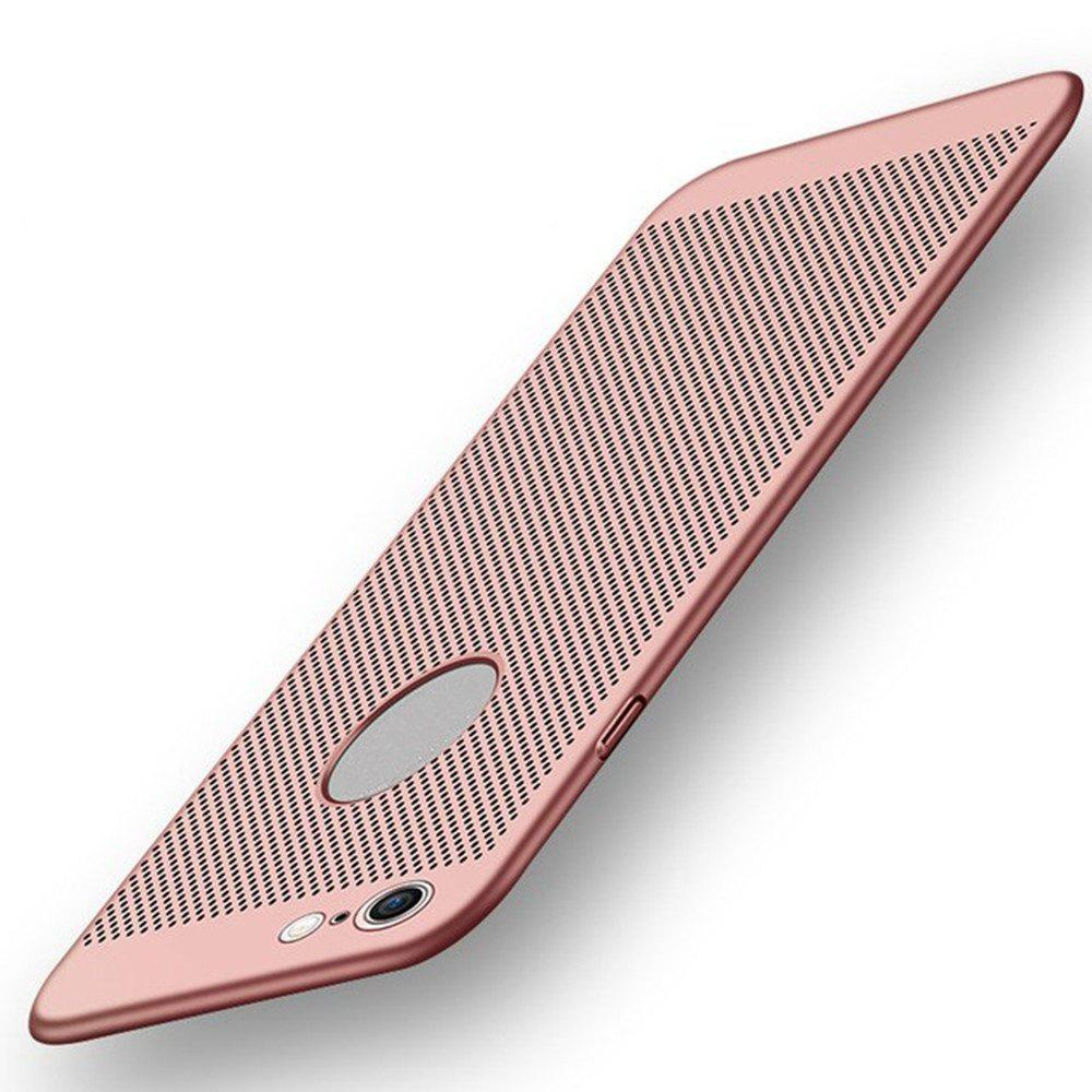 Ultra-thin Heat Dissipation Ventilation Mesh Grid Hard PC Cover Case for Iphone 8/7 - ROSE GOLD