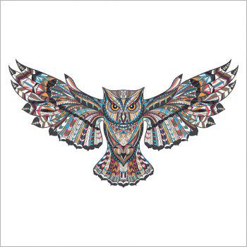 Colorful Owl Rooms Decorations Birds Flying Animal Wall Stickers Adhesive Decor - COLOUR 45X60CM