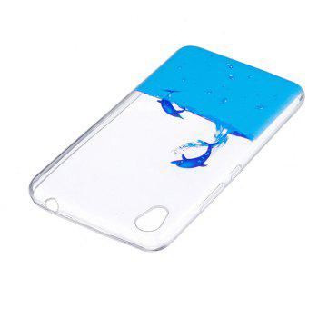 Two Dolphins Painted Protective Case for Infinix Smart X5010 - BLUE