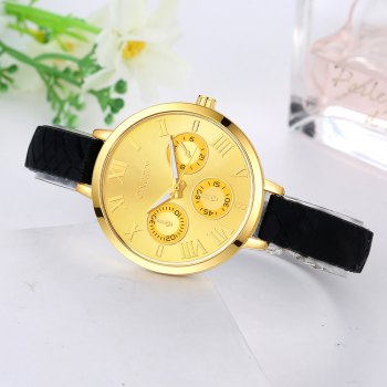 GAIETY G294 Women Roman Numbers Silicone Sports Wrist Watch - BLACK