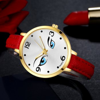 GAIETY G300 Women Fashion Leather Watch - RED