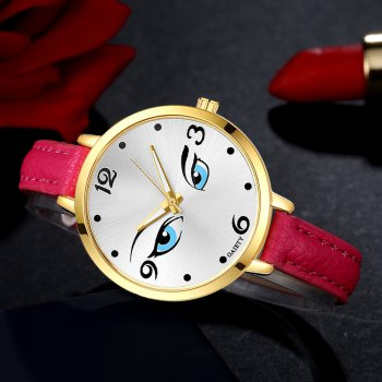 GAIETY G300 Women Fashion Leather Watch - ROSE RED