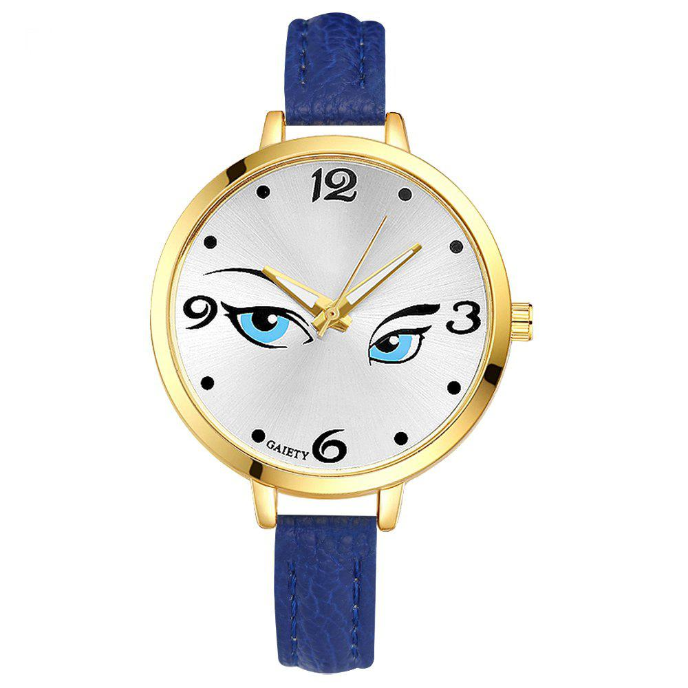 GAIETY G300 Women Fashion Leather Watch - BLUE