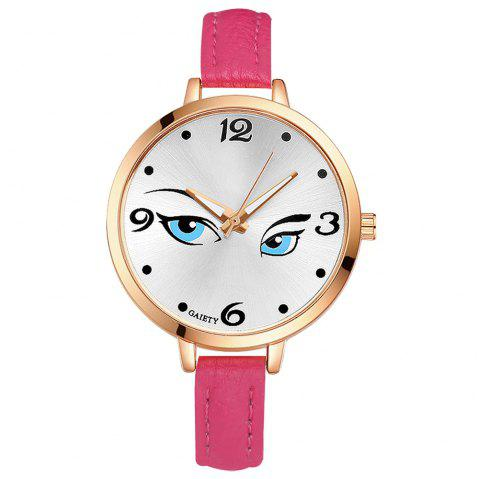 GAIETY G301 Women Fashion Leather Watch - ROSE RED