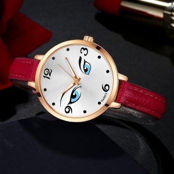 GAIETY G301 Women Fashion Leather Watch - RED