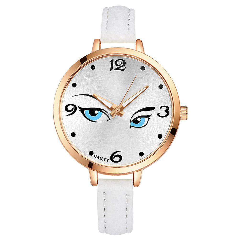 GAIETY G301 Women Fashion Leather Watch - WHITE