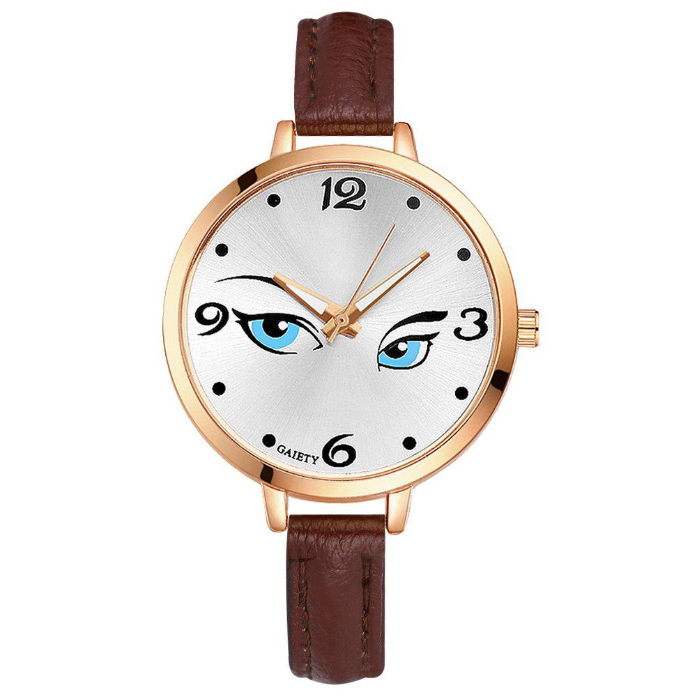 GAIETY G301 Women Fashion Leather Watch - BROWN