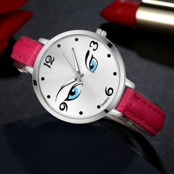 GAIETY G302 Fashion Silver Leather Watch - ROSE RED