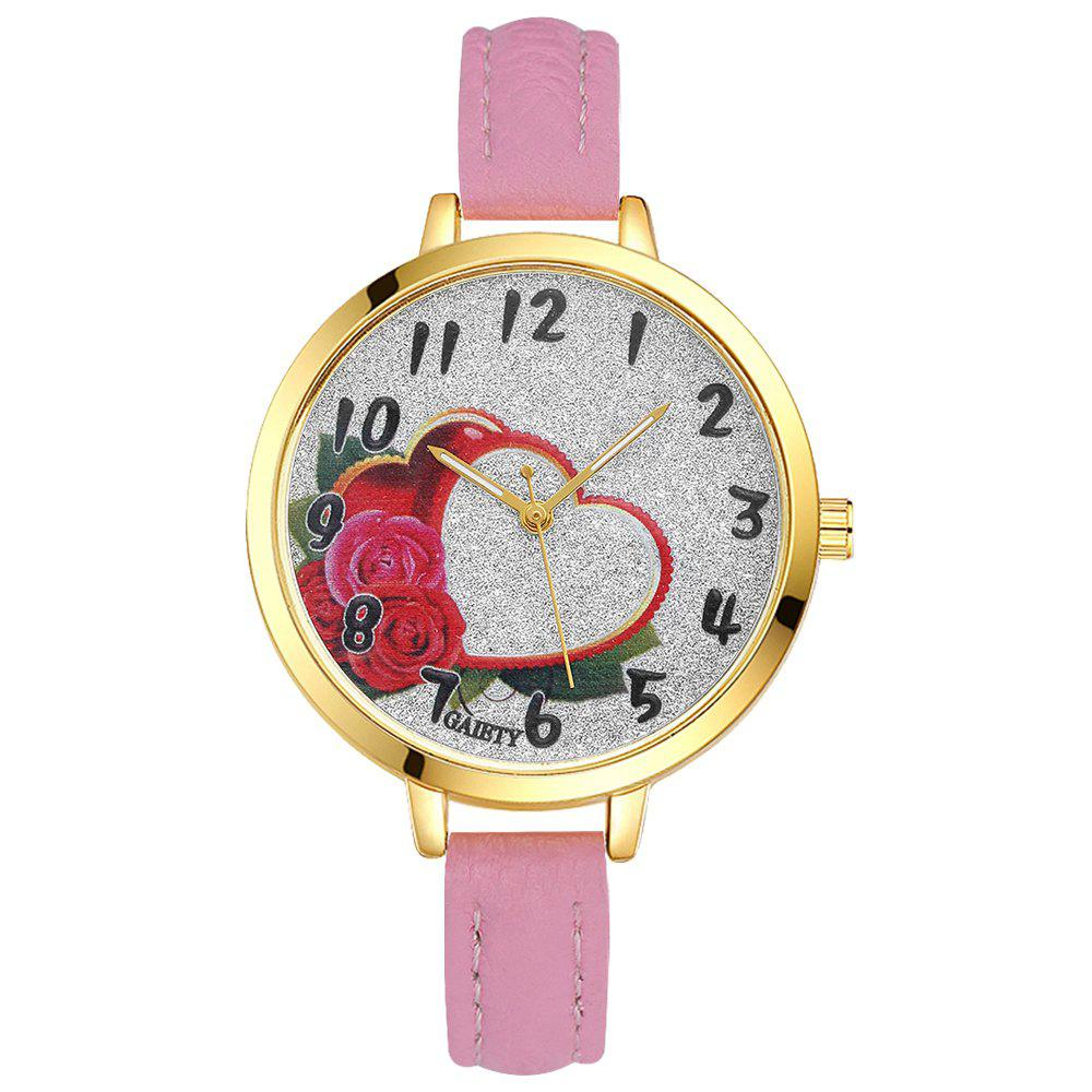 GAIETY G312 Women Fashion Leather Watch - PINK