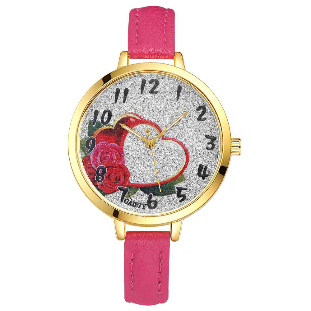 GAIETY G312 Women Fashion Leather Watch - ROSE RED