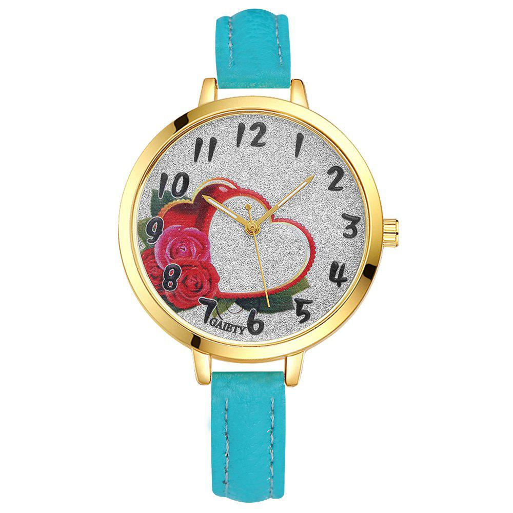 GAIETY G312 Women Fashion Leather Watch - SKYBLUE