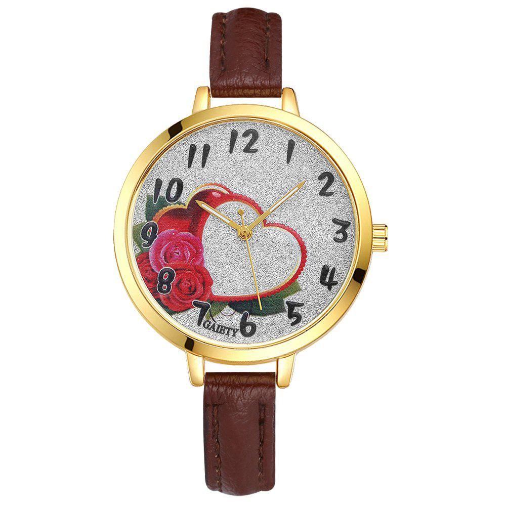 GAIETY G312 Women Fashion Leather Watch - BROWN
