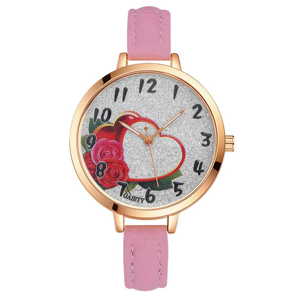 GAIETY G313 Women Leather Fashion Watch - PINK