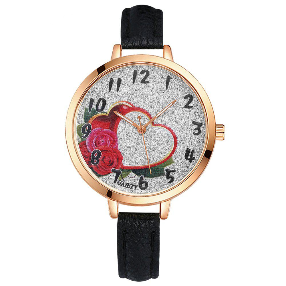 GAIETY G313 Women Leather Fashion Watch - BLACK