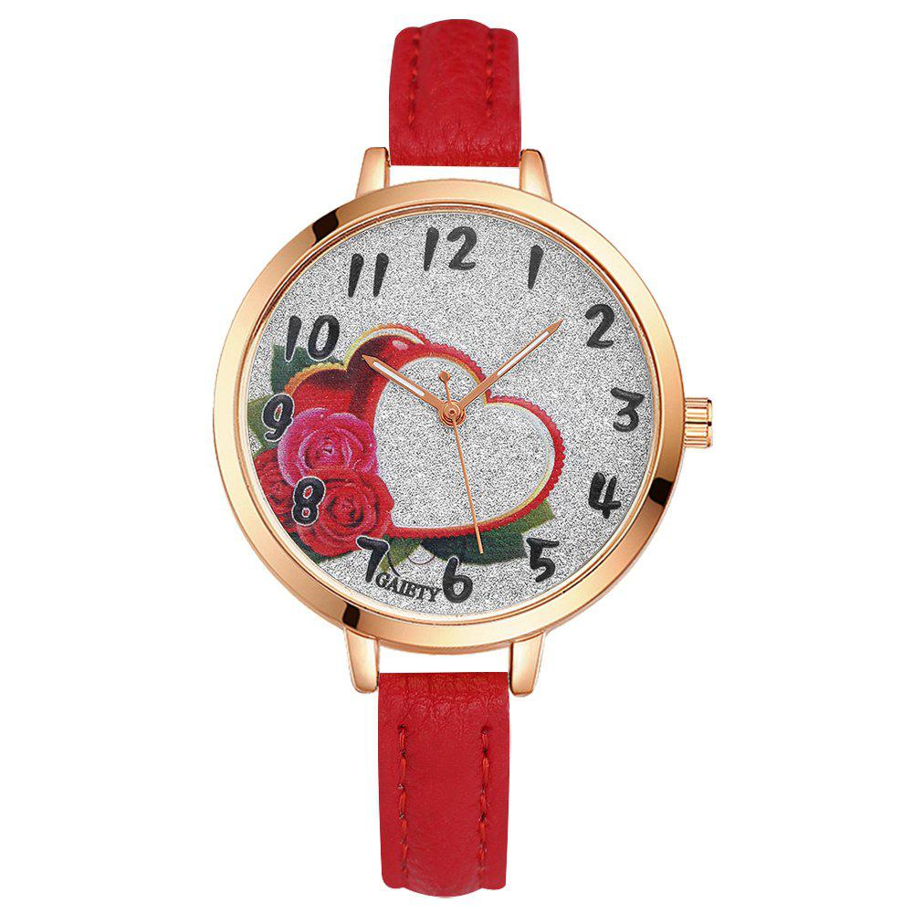 GAIETY G313 Women Leather Fashion Watch - RED